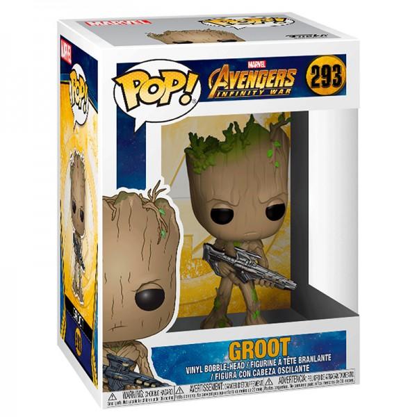 Фигурка Funko POP! Bobble: Marvel: Грут с оружием (Groot with Gun)