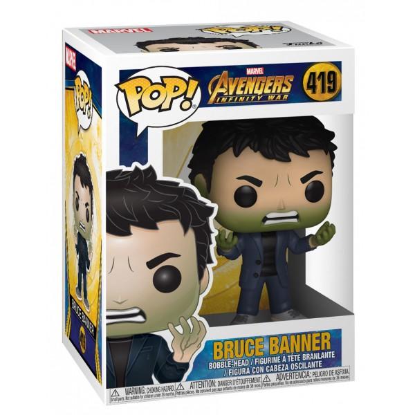 Фигурка Funko POP! Bobble: Marvel: Avengers Infinity War S2: Брюс Баннер (Халк)