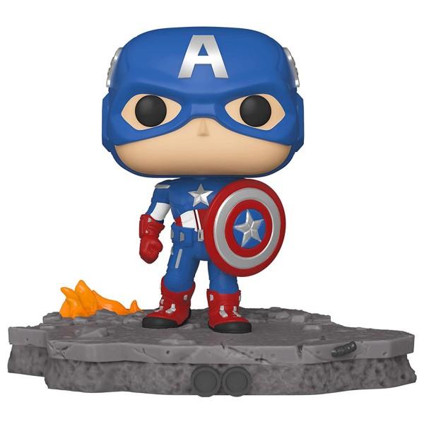 Фигурка Funko POP! Bobble: Deluxe: Avengers: Captain America (Assemble) (Exc)