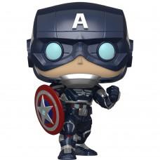 Фигурка Funko POP! Bobble: Marvel: Avengers Game: Captain America
