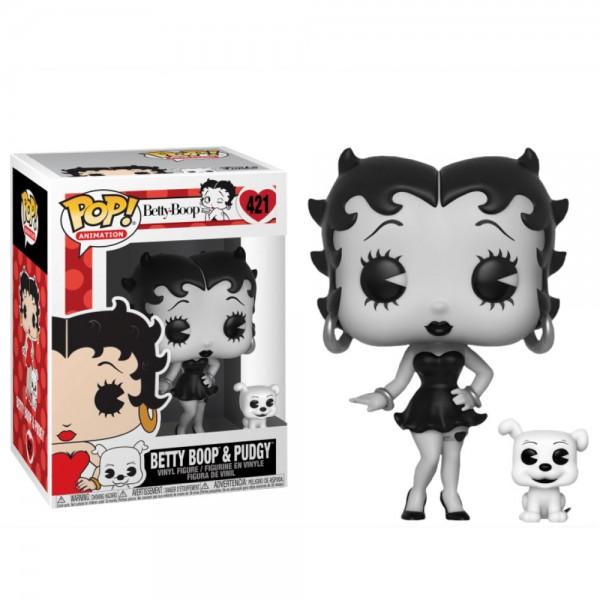 Фигурка Funko POP! Vinyl: Betty Boop: Бетти Буп с собачкой (черно-белая версия)