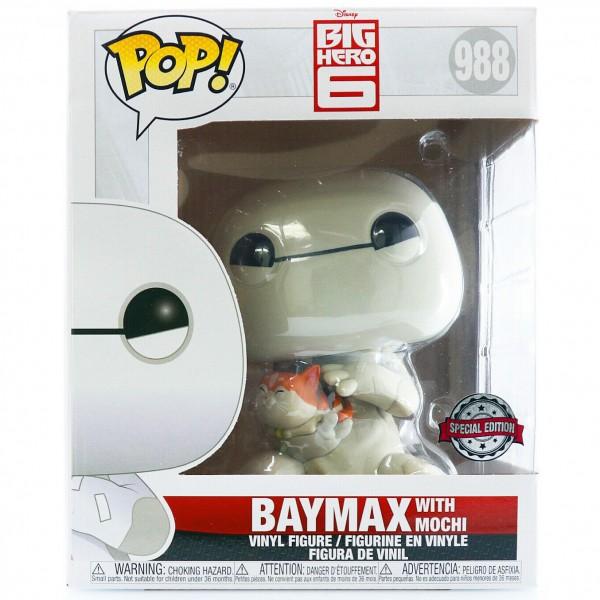 Фигурка Funko POP! Vinyl: Disney: Big Hero 6: Baymax with Mochi 15см