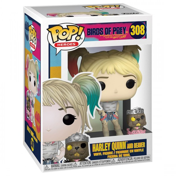 Фигурка Funko POP! Vinyl: DC: Birds of Prey: Harley Quinn with Beaver