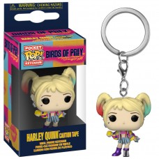 Брелок Funko Pocket POP! Keychain: Birds of Prey: Harley Quinn (Caution Tape)