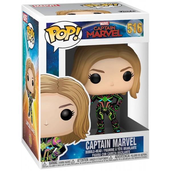 Фигурка Funko POP! Bobble: Marvel: Captain Marvel with Neon Suit