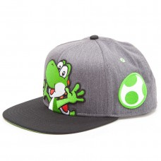 Бейсболка Nintendo: Super Mario Grey Snapback With Yoshi And Egg