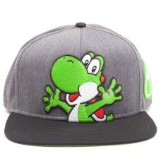 Бейсболка Nintendo: Super Mario Grey Snapback With Yoshi And Egg