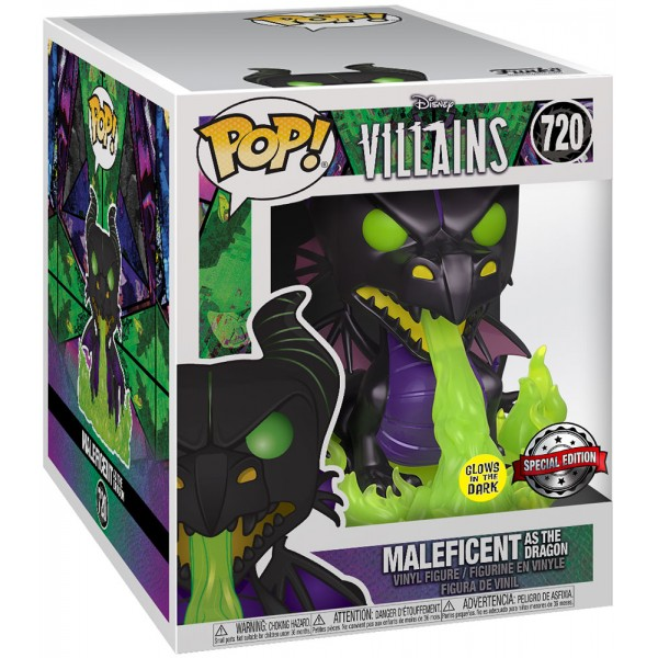 "Фигурка Funko POP! Vinyl: Disney: Villains: Dragon with Flames 6"" (MT) (GW) (Эксклюзив)"