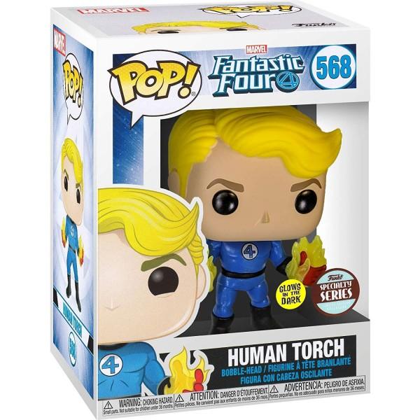 Фигурка Funko POP! Bobble: Marvel: Fantastic Four: Human Torch (Suited) (Эксклюзив)