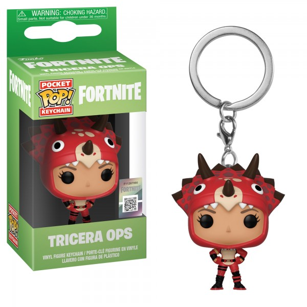 Брелок Funko Pocket POP!: Fortnite: Tricera Ops (Спецназ юрского периода)