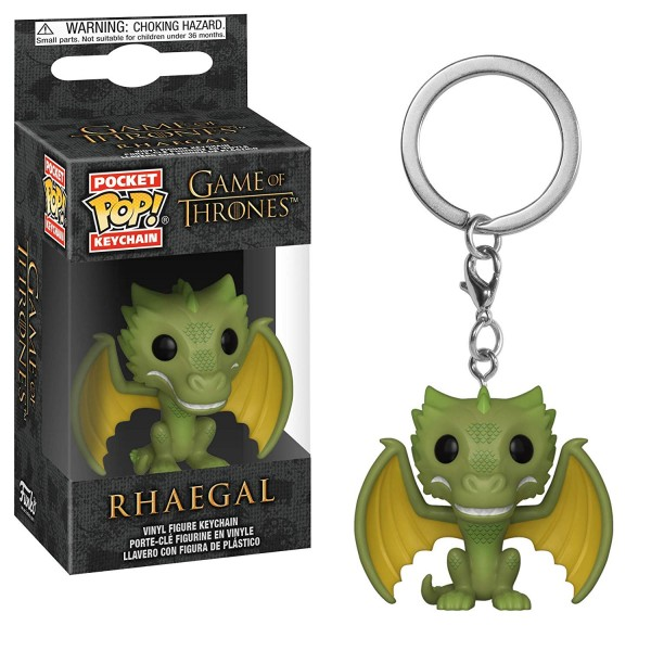 Брелок Funko Pocket POP! Game of Thrones: Rhaegal (Дракон Рейгаль)