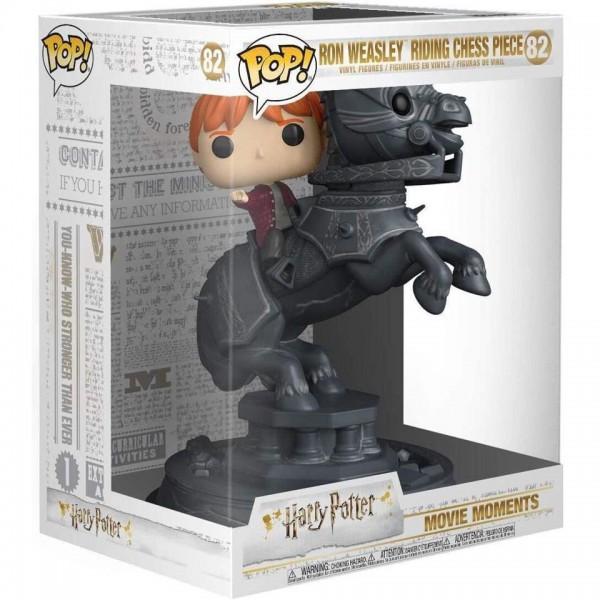 Фигурка Funko POP! Movie Moment Harry Potter: Ron Weasley Riding Chess Piece