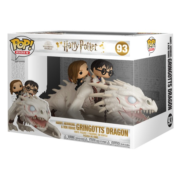 Фигурка Funko POP! Rides: Harry, Hermione and Ron Riding Gringotts Dragon