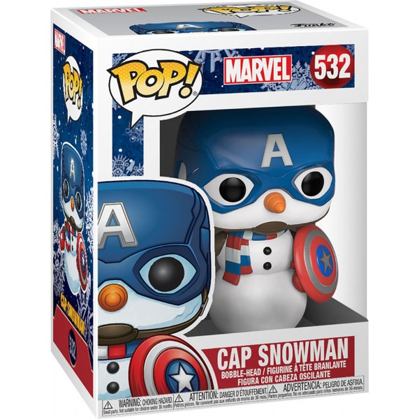 Фигурка Funko POP! Bobble: Marvel: Holiday: Capitan America