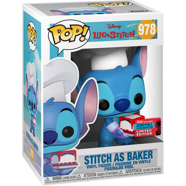 Фигурка Funko POP! NYCC: Disney: Stitch as Baker (Exc)
