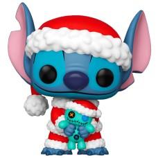 Фигурка Funko POP! Disney: Lilo & Stitch: Santa Stitch with Scrump