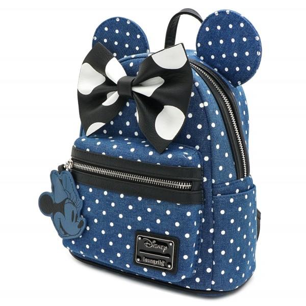 Рюкзак Loungefly: Disney: Minnie Mouse Denim Backpack