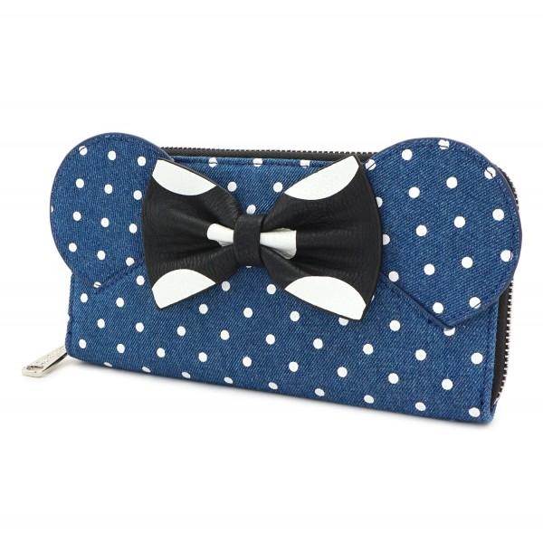 Кошелек Loungefly: Disney: Minnie Mouse Denim Wallet