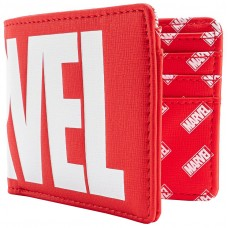 Кошелек Loungefly: Marvel: Logo Red Bi-Fold Wallet