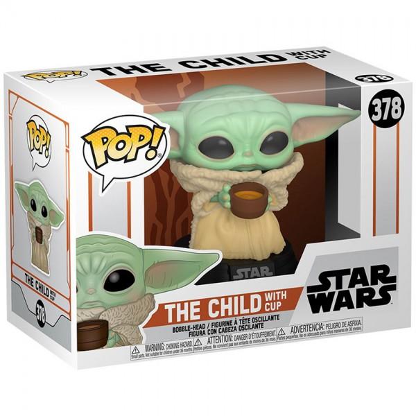 Фигурка Funko POP! Bobble: Star Wars: Mandalorian: The Child with Cup