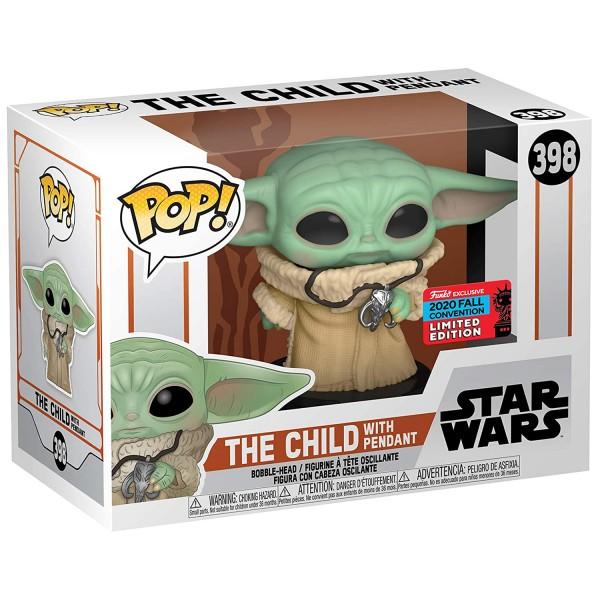 Фигурка Funko POP!: Star Wars: Mandalorian: The Child with Pendant Neckla (Exc)