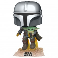 Фигурка Funko POP! Bobble: Star Wars: Mandalorian Flying with Jet