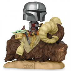 Фигурка Funko POP! Deluxe: Star Wars: Mandalorian with Child on Bantha