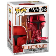 Фигурка Funko POP! Bobble: Star Wars: Mandalorian Red Chrome (Exc)