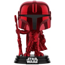 Фигурка Funko POP! Bobble: Star Wars: Mandalorian Red Chrome (Exc)