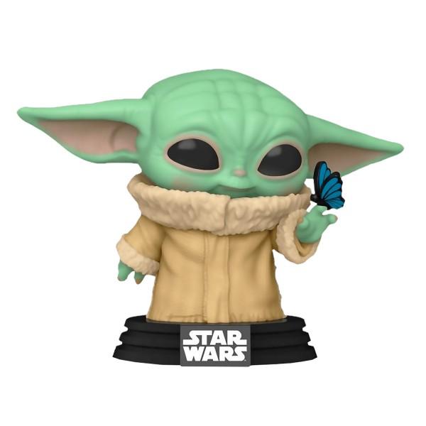 Фигурка Funko POP! Bobble: Star Wars: Mandalorian: Grogu with Butterfly (Exc)