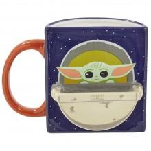 Кружка керамическая Funko Star Wars Mandalorian: The Child: Figural Mug Drink Time