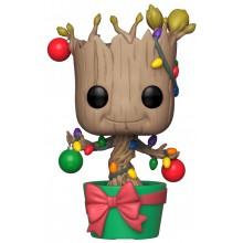 Фигурка Funko POP! Bobble: Marvel: Holiday: Groot with Lights & Ornaments