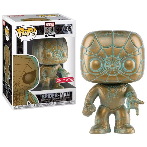 Фигурка Funko POP! Bobble: Marvel: Marvel 80th: Платиновый Человек - Паук (Spider-Man)