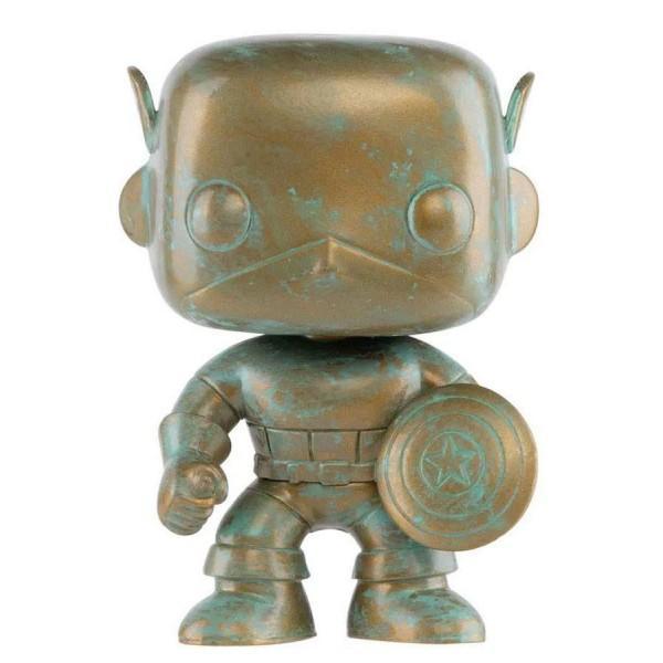 Фигурка Funko POP! Bobble: Marvel: Marvel 80th: Платиновый Капитан Америка
