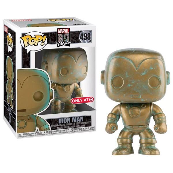 Фигурка Funko POP! Bobble: Marvel: Marvel 80th: Платиновый Железный человек