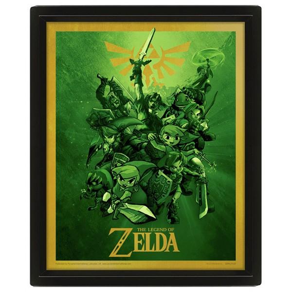 3D Постер: Nintendo: The Legend Of Zelda (Link)