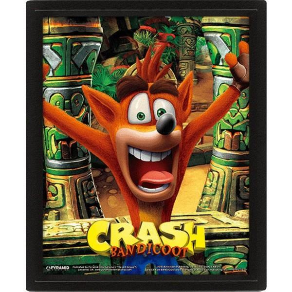 3D Постер Activision: Crash Bandicoot – Mask Power Up