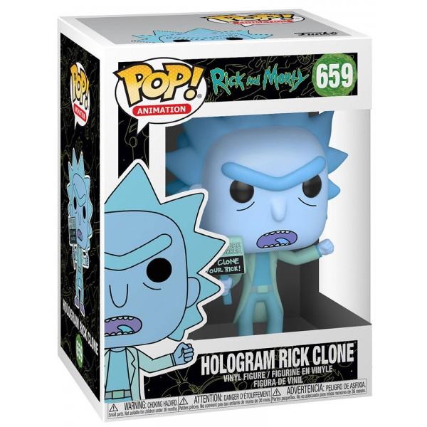 Фигурка Funko POP! Vinyl: Rick & Morty: Hologram Rick Clone