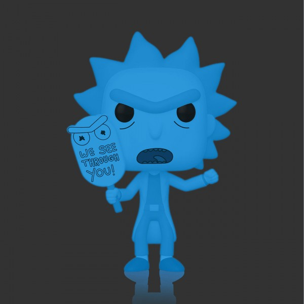 Фигурка Funko POP! Vinyl: Rick & Morty: Hologram Rick Clone (Glows in the Dark)