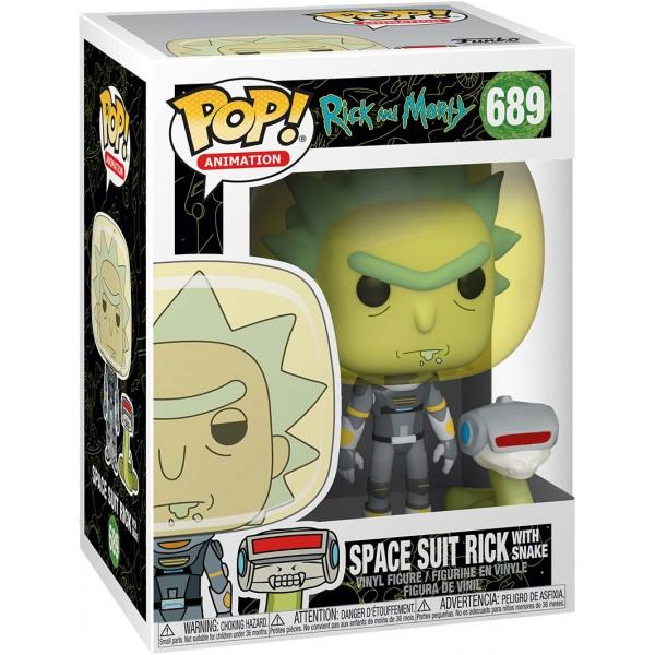 Фигурка Funko POP! Vinyl: Rick & Morty: Space Suit Rick with Snake