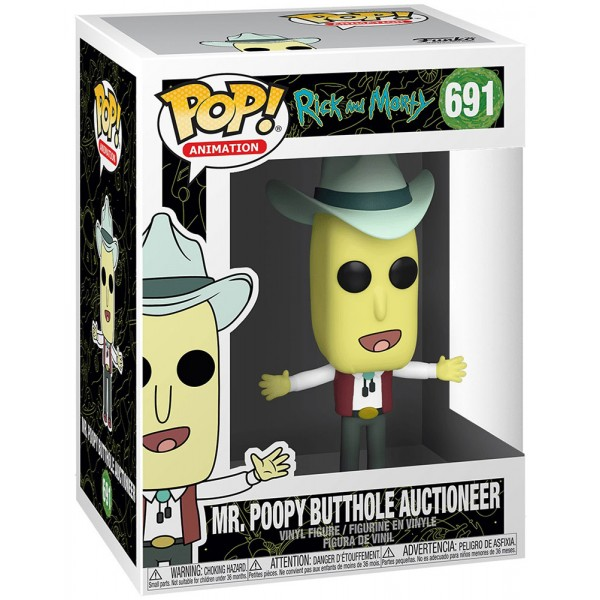 Фигурка Funko POP! Vinyl: Rick & Morty: Mr. Poopy Butthole Auctioneer