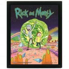 3D Постер Rick and Morty (Portal)