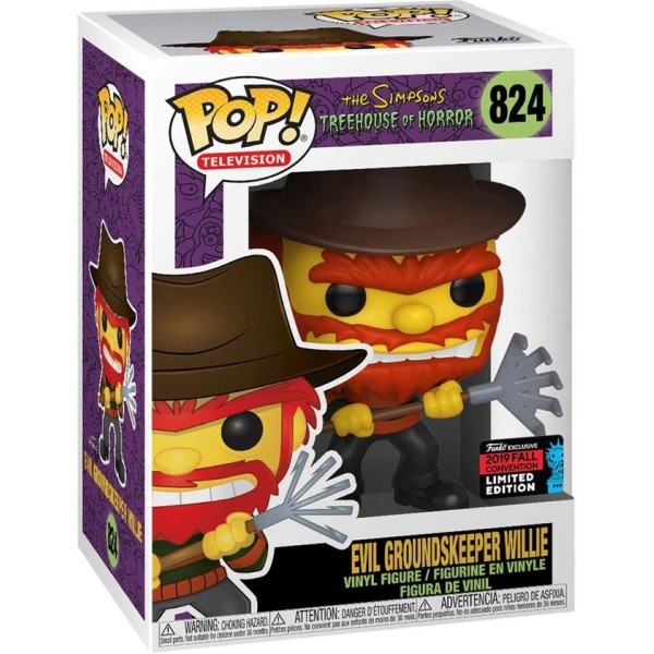 Фигурка Funko POP! Vinyl: NYCC Exc: The Simpsons: Evil Groundskeeper Willie (Эксклюзив)
