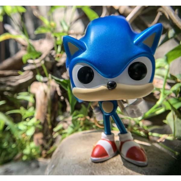 Фигурка Funko POP! Games Sonic the Hedgehog Sonic with Ring (Metallic)