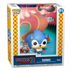 Фигурка Funko POP! Game Cover: Sonic the Hedgehog: Sonic (Exc)