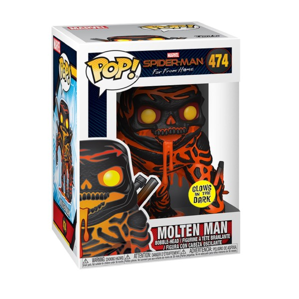 Фигурка Funko POP! Bobble: Marvel: Spider-Man: Far From Home: Molten Man (GW)(Exc)