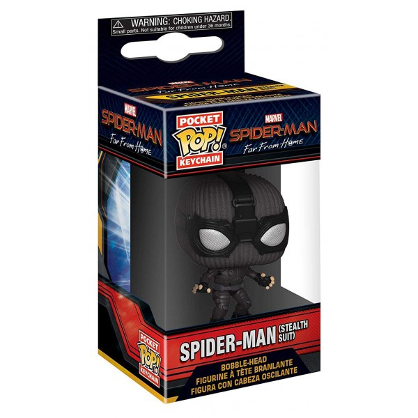 Брелок Funko Pocket POP! Keychain: Marvel: Spider-Man: Far From Home: Spider Man (Stealth Suit)