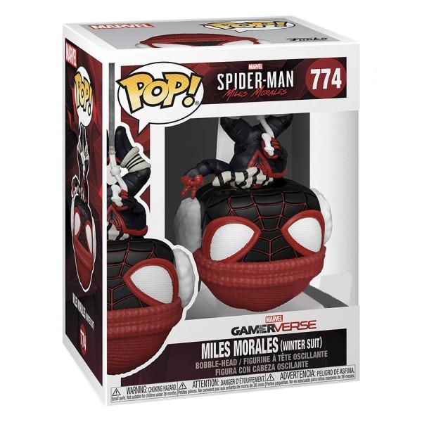 Фигурка Funko POP! Bobble: Marvel: Miles Morales (Upside Down Winter Suit)