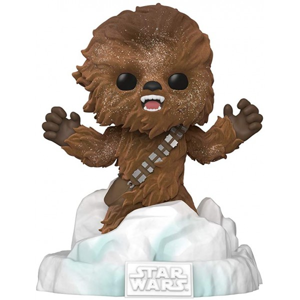 Фигурка Funko POP! Deluxe Bobble Star Wars Chewbacca Battle at Echo Base (FL) (Exc)