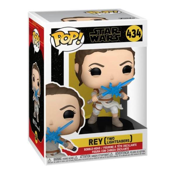Фигурка Funko POP! Bobble: Star Wars Ep 9: Rey with 2 Lightsabers